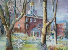 St. John's Campus, painting by Bob Caffrey