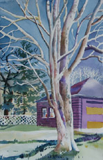 Chestnut Tree, painting by Bob Caffrey