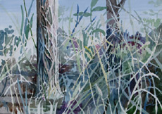 Grass in Need of Cutting, painting by Bob Caffrey