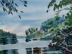 Severn River at Chase Creek, painting by Bob Caffrey